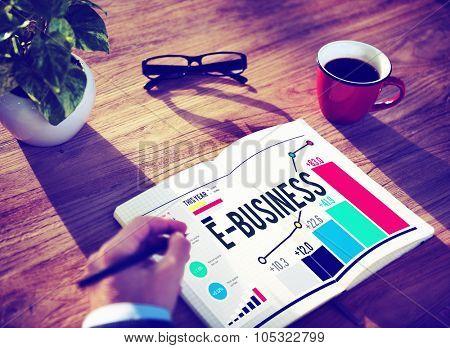 E-Business Global Communication E-Commerce Web Concept