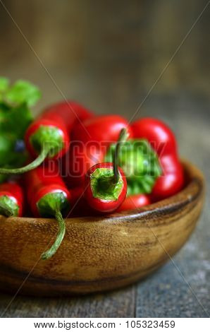 Chili Pepper And Bell Pepper.