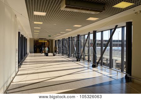 MOSCOW, RUSSIA - MAY 14, 2014: Sheremetyevo Airport interior. Sheremetyevo International Airport is an international airport located in Khimki, Moscow Oblast, Russia, 29 km northwest of central Moscow
