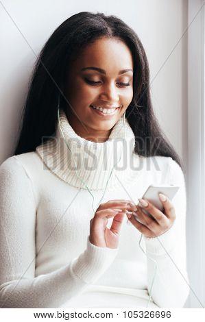 Enjoying Her Favorite Music.
