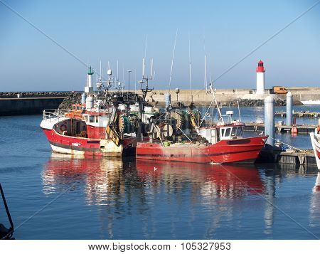 French fishing boat in harbour