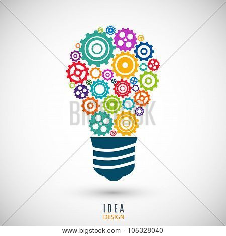 bulb icon colorful on the gray background. stock vector