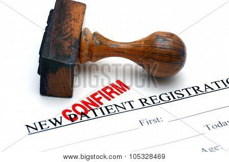 Patient Registration Confirm