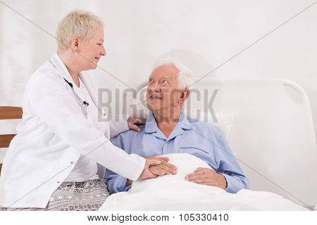 Taking Care Of Old Man