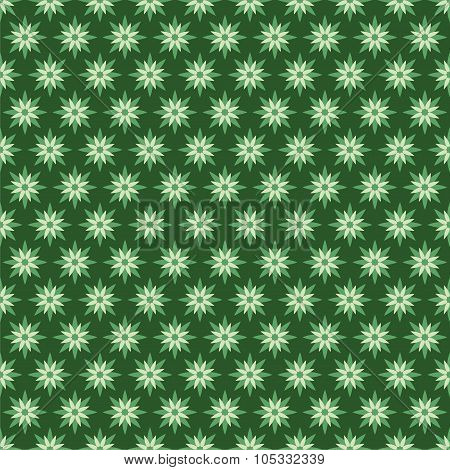 creative green flora pattern design