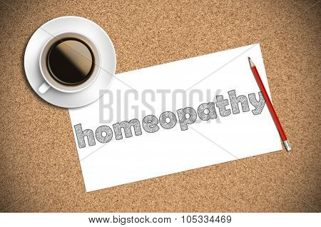 Coffee And Pencil Sketch Homeopathy On Paper