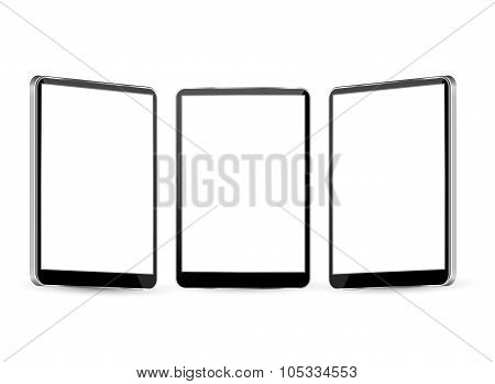 tablet  with different views.