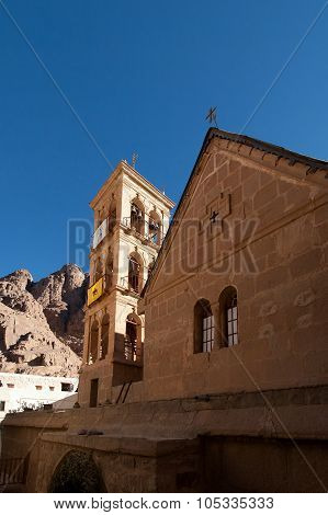 The Bell Tower Of The Monastery Of St. Catherine, Egypt