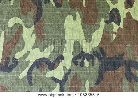 Closeup Of Military Uniform Surface