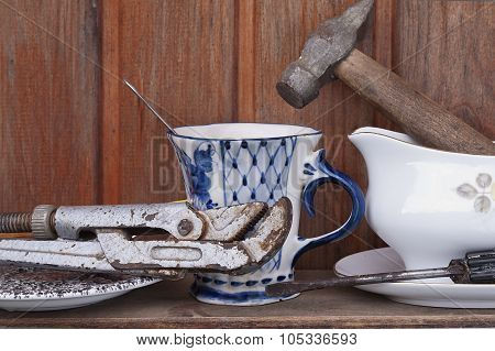Working Tools And Crockery