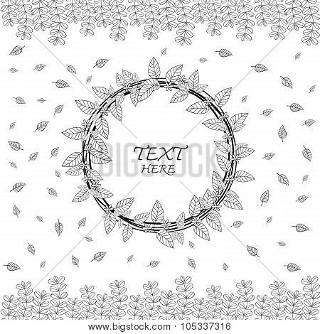Save to a lightbox  Find Similar Images  Share Stock Vector Illustration: Vector floral wreath. Ink