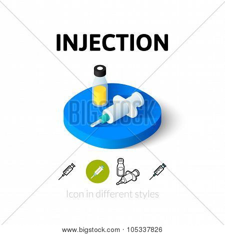 Injection icon in different style