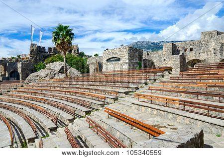 Amphitheatre In Fortress Kanli Kula (bloody Tower), Herceg Novi, Montenegro