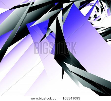 Abstract Digital Art Background, Pattern With Shattered, Edgy Shapes.