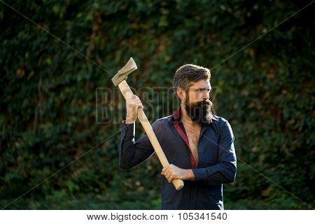 Man With Sharp Axe
