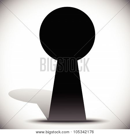Keyhole Graphics For Secrecy, Privacy Concepts. Editable Vector.