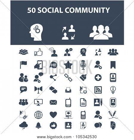 social media, community icons