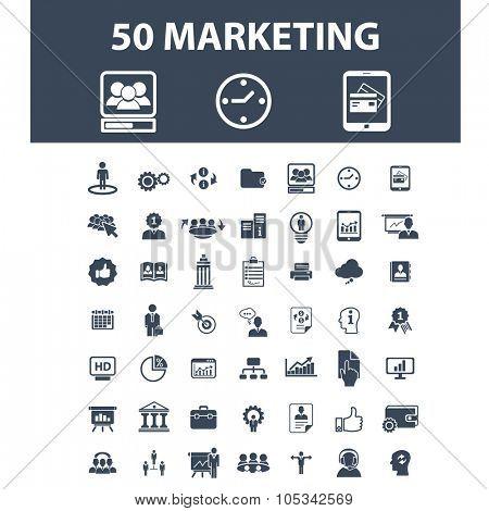 marketing, management, market icons