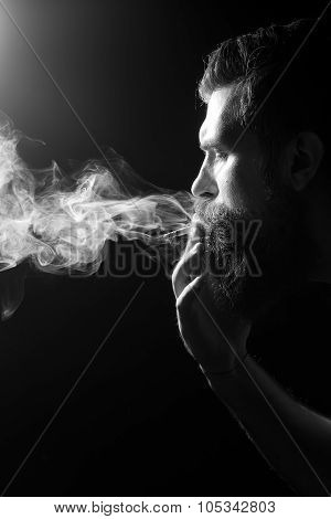 Smoking Senior Man
