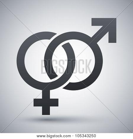 Vector Male And Female Sex Symbols