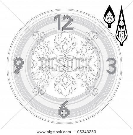 Thai Art Line Clock