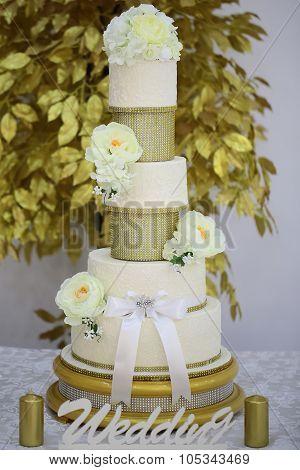 Multistage Dessert Wedding Cake
