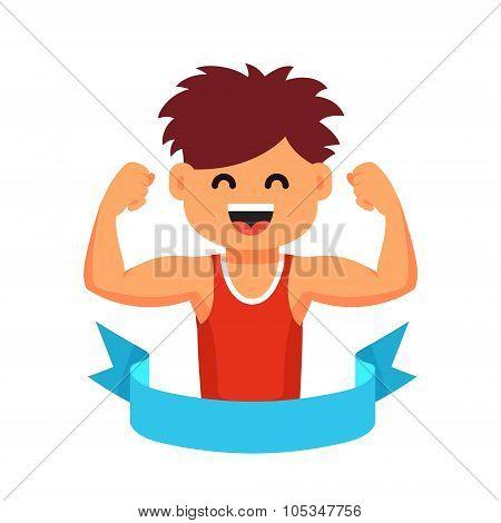 Sportsman children healthy lifestyle concept