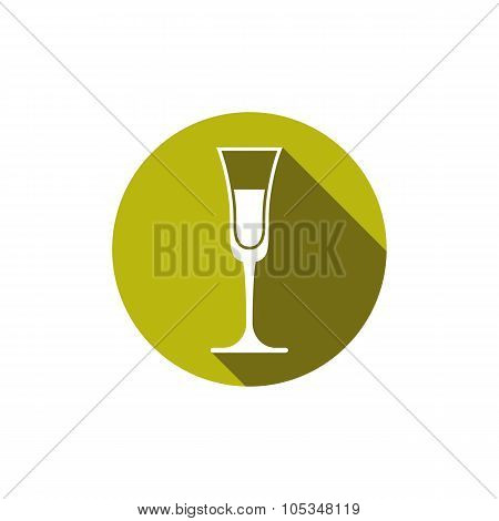 Horeca Graphic Element, Champagne Glass. Alcohol Theme Vector Conceptual Symbol.