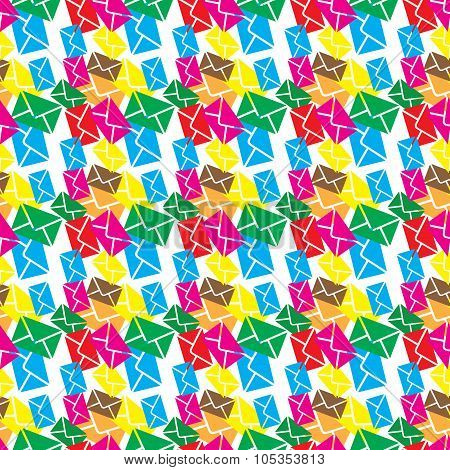 Seamless pattern  email,sms or envelope newslette