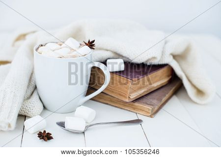 Cozy winter home background