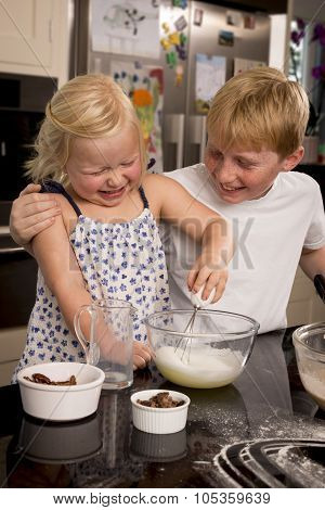 Brother And Sister Whisking