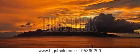Island Of Brava During Sunset