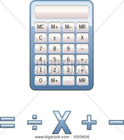 Calculator With Math Icons