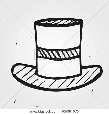 Vector Hat, Funnyman, Hand Drawn