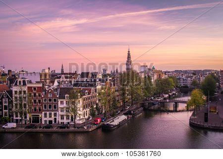 Dawn in Amsterdam