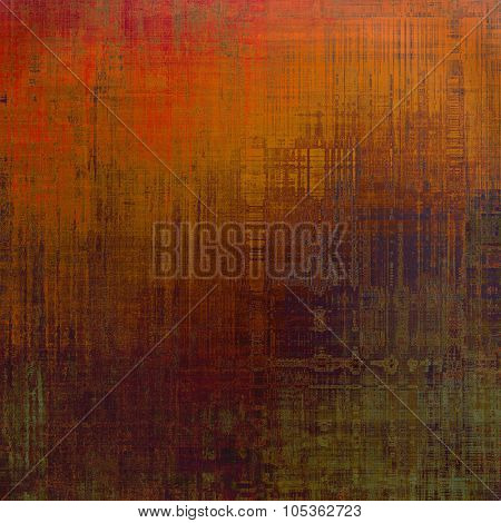 Old Texture or Background. With different color patterns: brown; gray; green; red (orange)