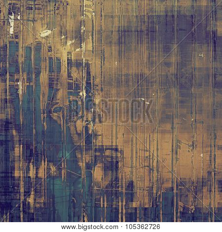 Old and weathered grunge texture. With different color patterns: yellow (beige); brown; blue; gray