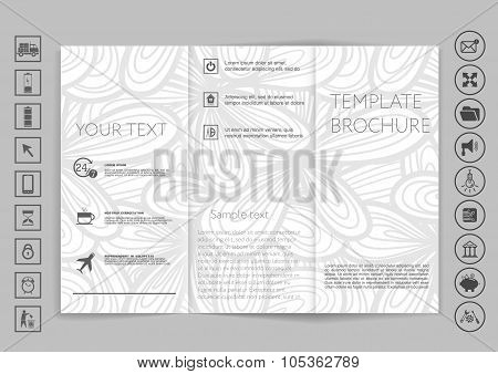 Tri-fold Brochure Mock Up Vector Design