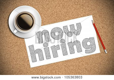 Coffee And Pencil Sketch Now Hiring On Paper