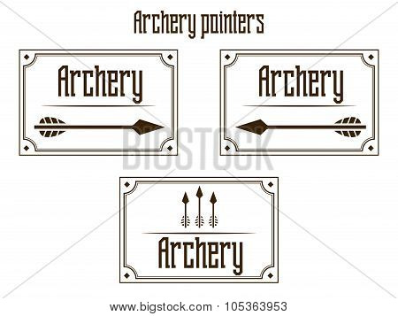Pointers archery vector illustration