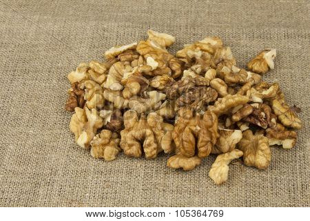 Walnuts on the kitchen table.