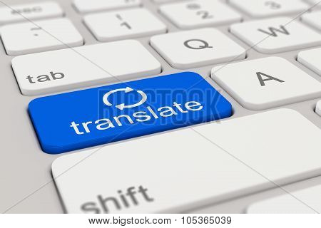 Keyboard - Translate - Blue