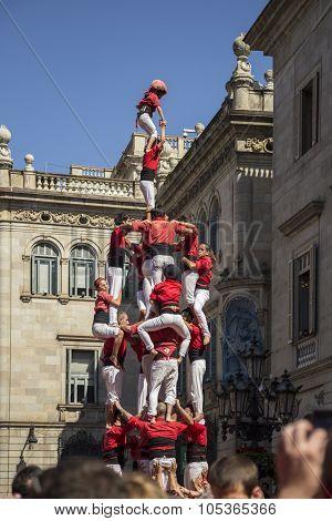 Castelers in Barcelona