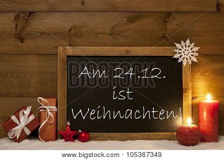 Festive Card, Blackboard, Snow, Weihachten Mean Christmas