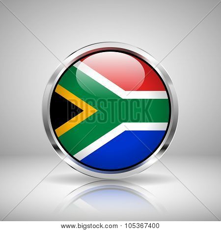 Flag Of South Africa In Chrome