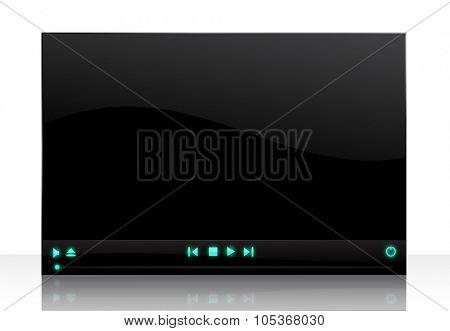 vector media player screen illustration