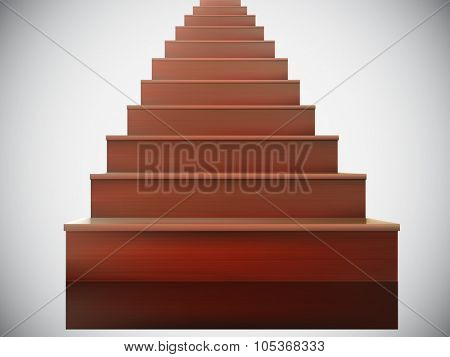 vector wooden stairs illustration