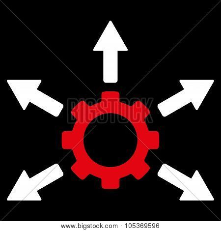 Gear Distribution Flat Icon