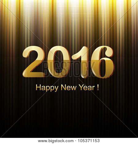 Happy New Year With Gradient Mesh, Vector Illustration