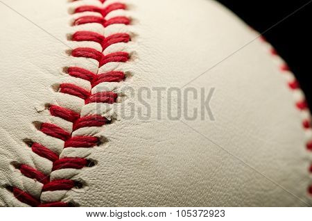 Seams of a baseball